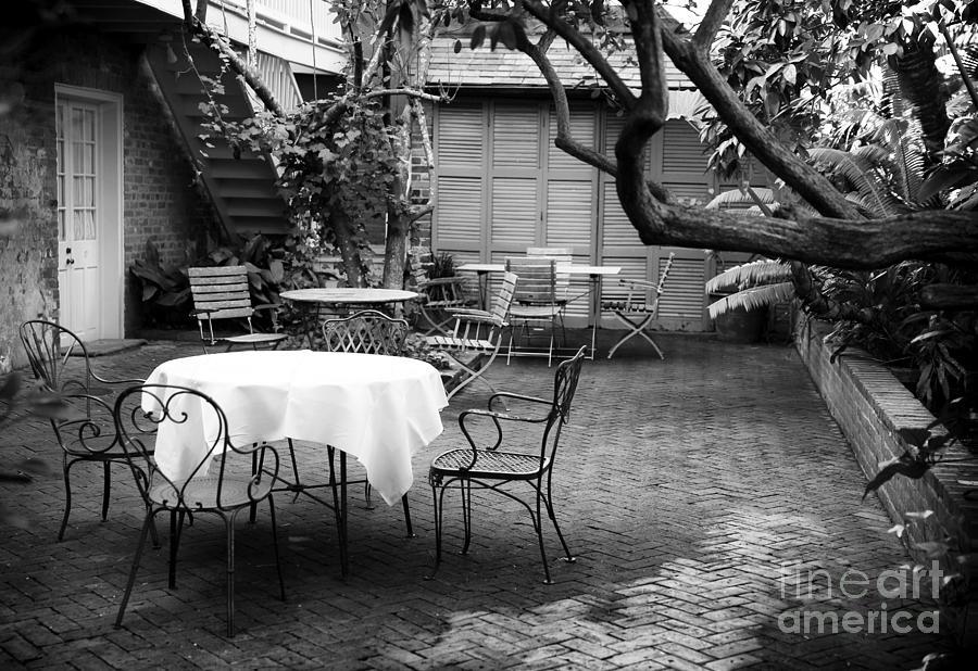 Courtyard Photograph - Courtyard Seating by John Rizzuto