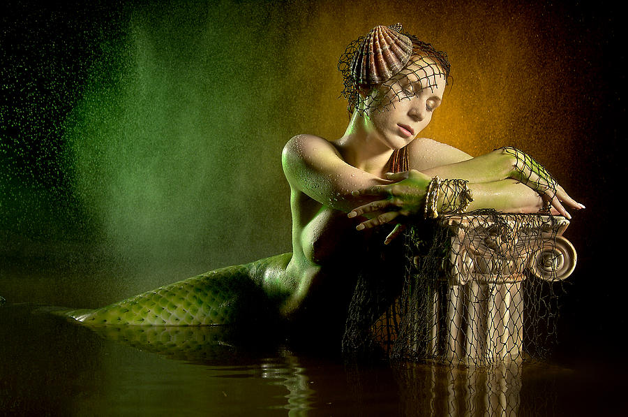Nude Photograph - Couture Mermaid by Adam Chilson