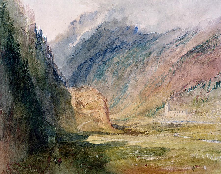 Alps Painting - Couvent Du Bonhomme Chamonix by Joseph Mallord William Turner
