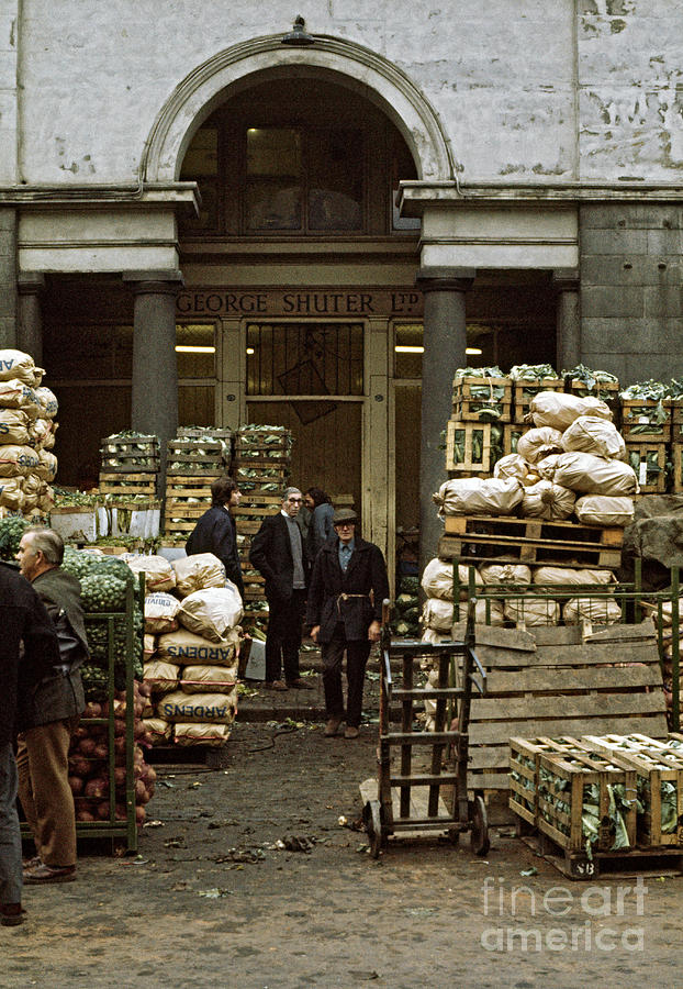 Market Photograph - Covent Garden Market London 1973 by David Davies