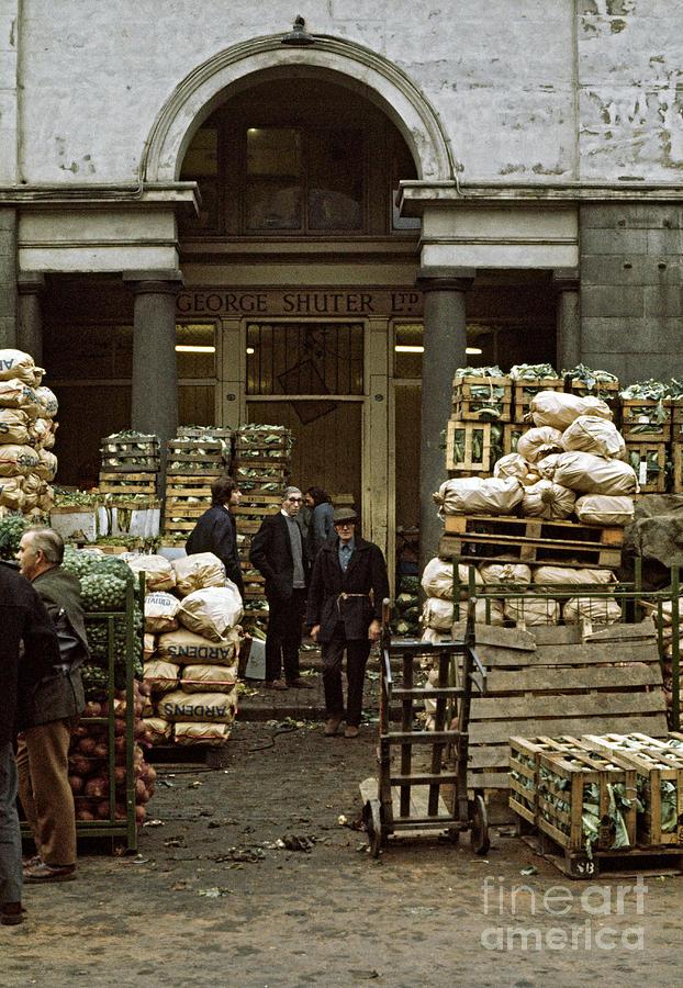 Market Photograph - Covent Garden Market London 1973 by David Davies