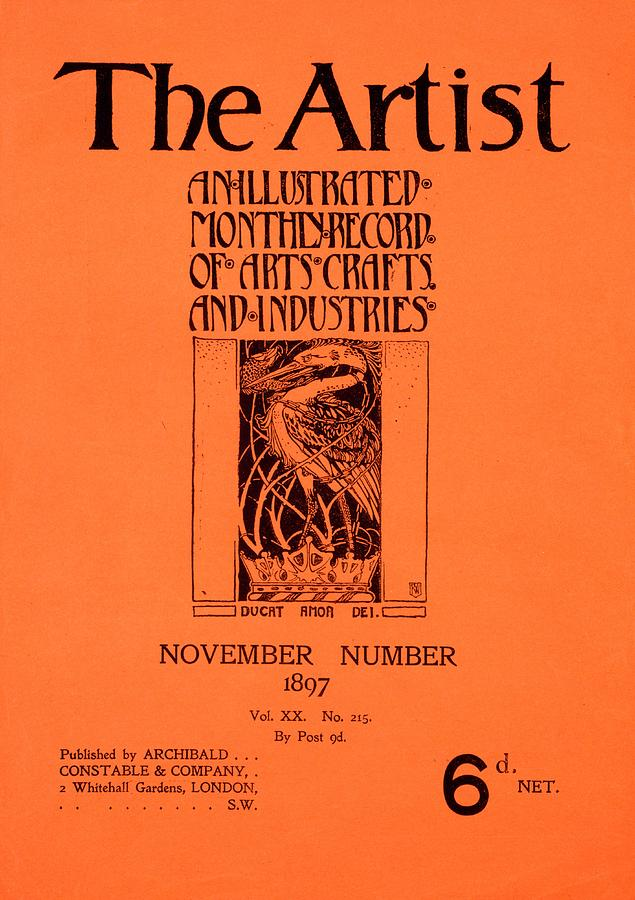 The Artist Painting - Cover For The Artist Magazine, November 1897 by English School