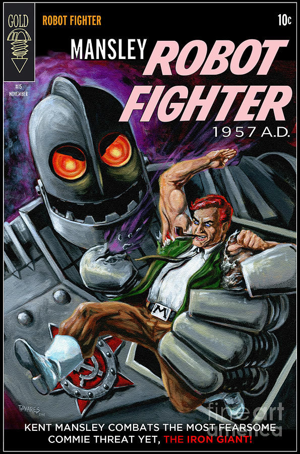 Cover to Mansley Robot Fighter by Mark Tavares