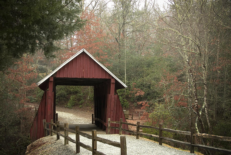 South Carolina Photograph - Covered Bridge by Cindy Rubin