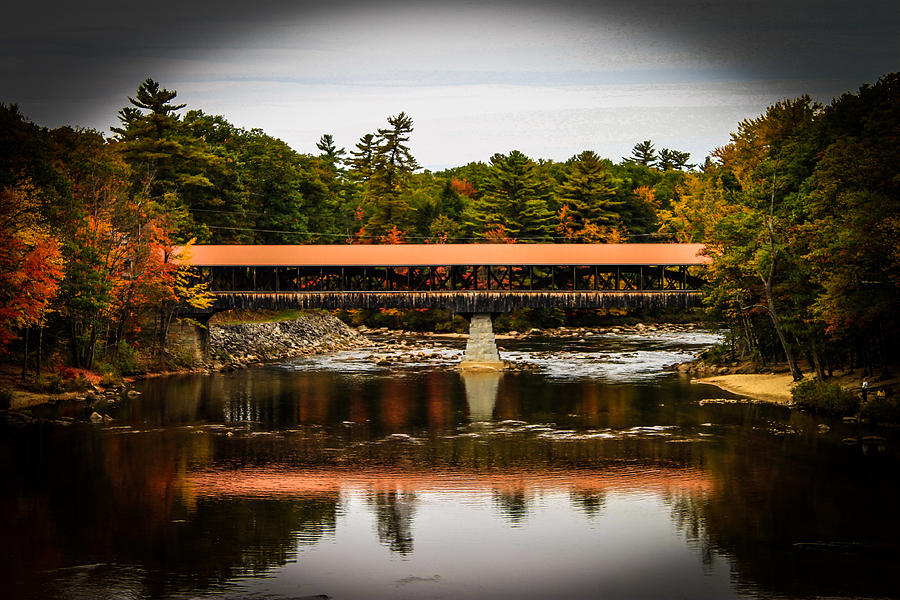 Landscape Photograph - Covered Bridge Conway New Hampshire by Michael Donovan