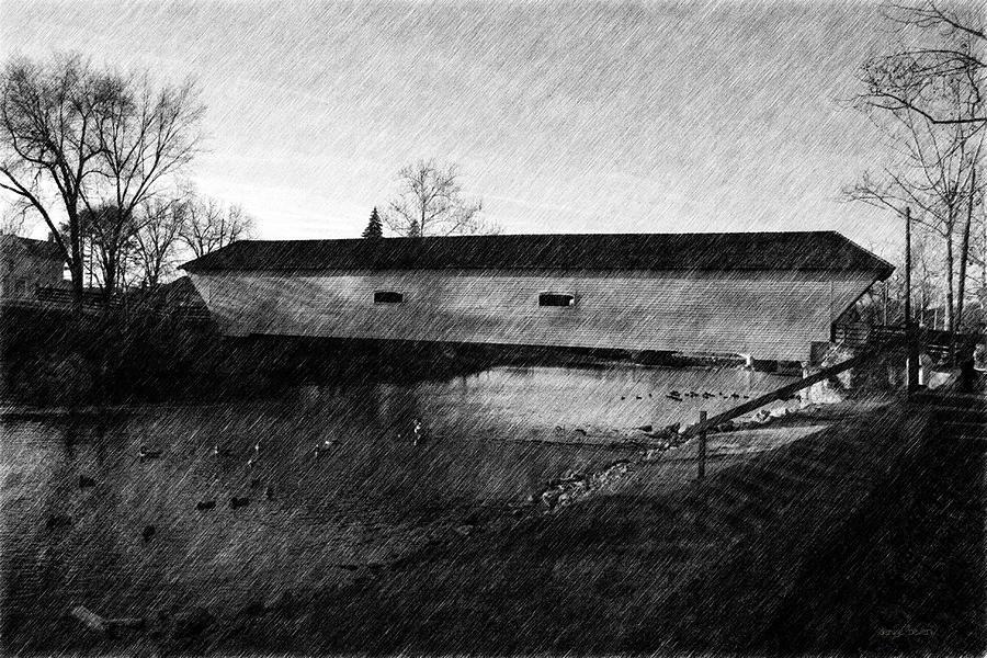 Covered Bridge Photograph - Covered Bridge Elizabethton Tennessee C. 1882 by Denise Beverly