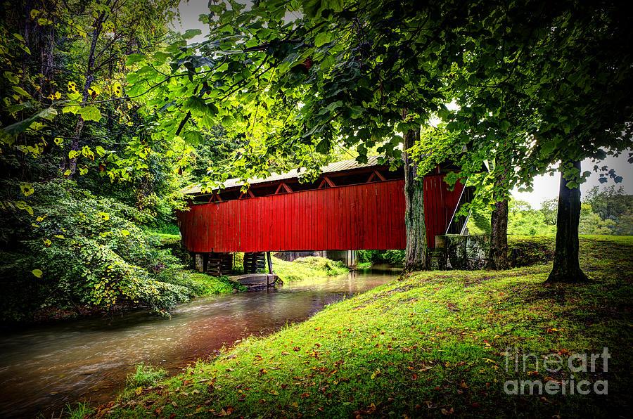 Covered Bridge Photograph - Covered Bridge In Pa by Dan Friend
