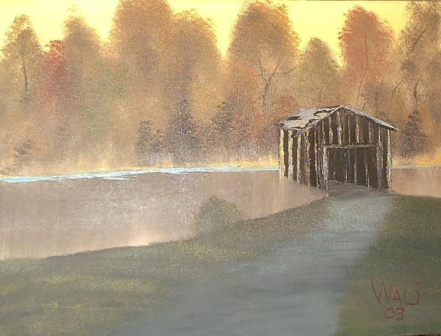Landscape Painting - Covered Bridge by James Waligora