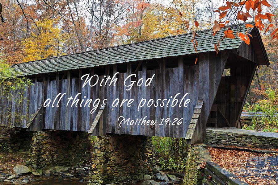 Covered Bridge Scripture Photograph