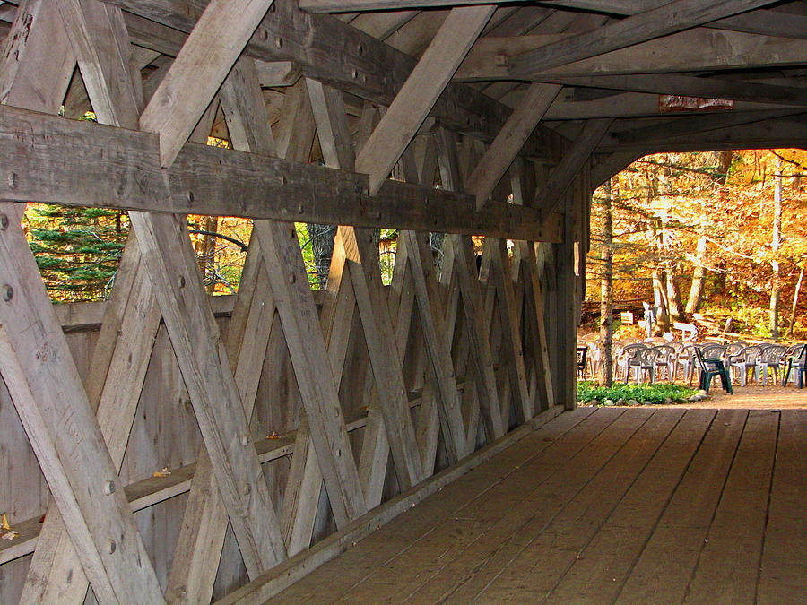 Bridge Photograph - Covered Bridge by Victoria Sheldon