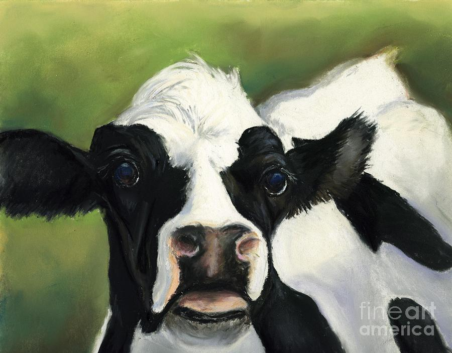 Cow Painting - Cow Closeup by Charlotte Yealey