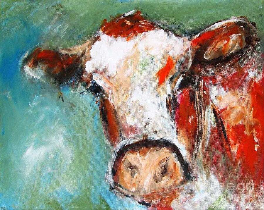 bovine wall art  by Mary Cahalan Lee- aka PIXI
