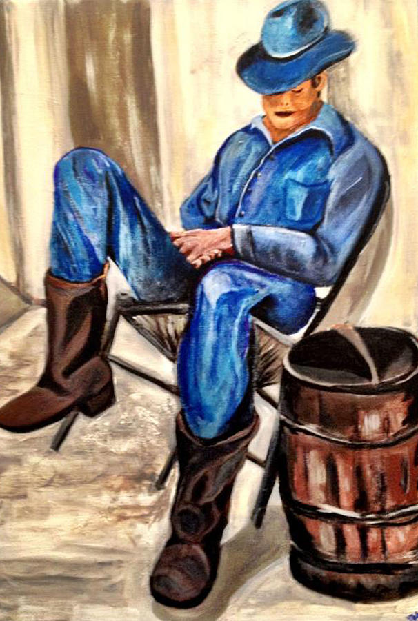 Cowboy Painting - Cowboy Blue by Melanie Wadman
