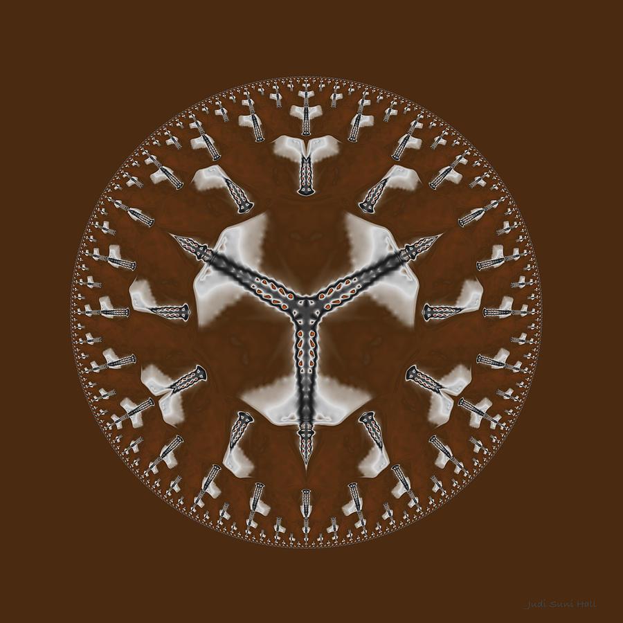 Mandala Digital Art - Cowboy Bolo Tie by Judi Suni Hall
