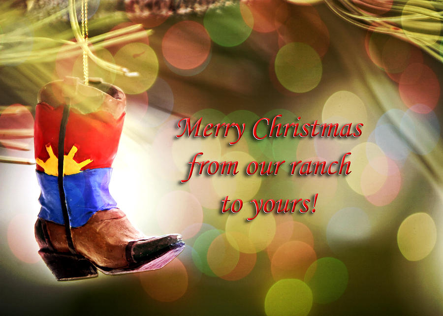 Christmas Photograph - Cowboy Boot Christmas by Lincoln Rogers