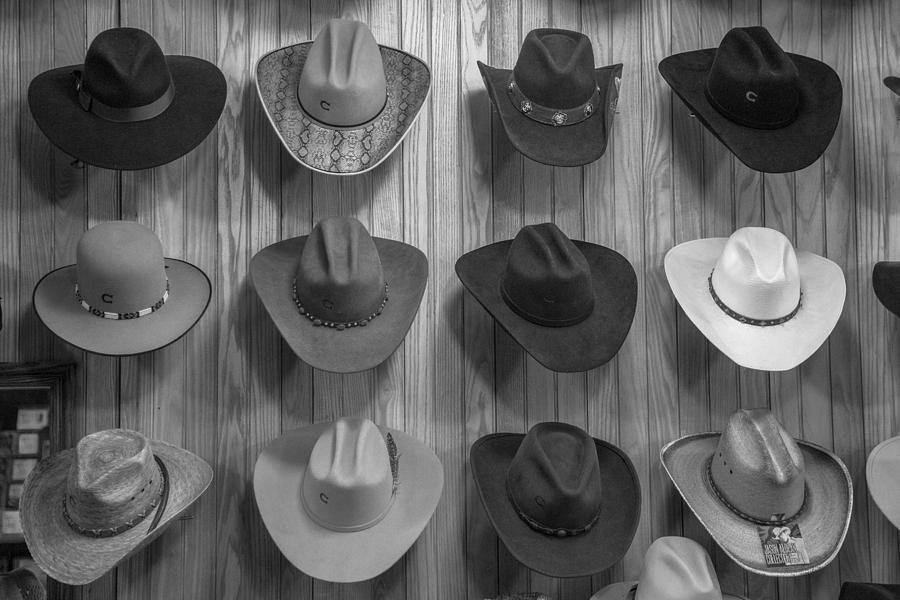 Nashville Photograph - Cowboy Hats on Wall in Nashville  by John McGraw