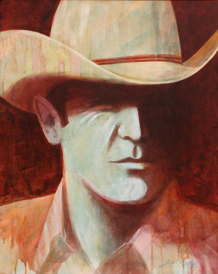 Cowboy Painting by J W Kelly