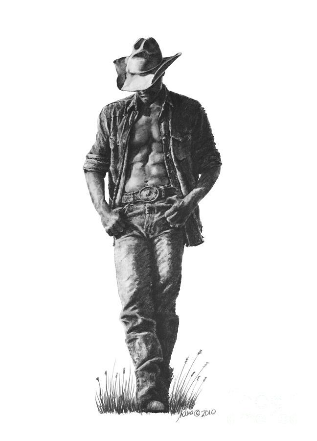 Картинки ковбоев карандашом