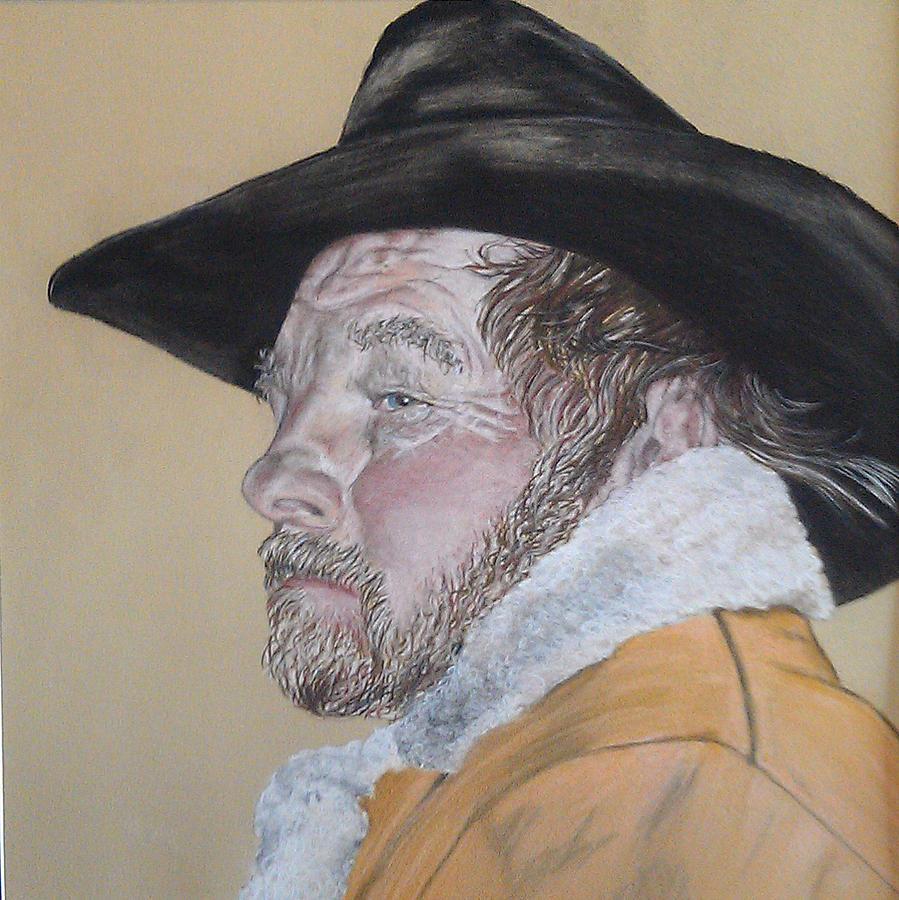Western Pastel - Cowboy Pastel by Ann Marie Chaffin