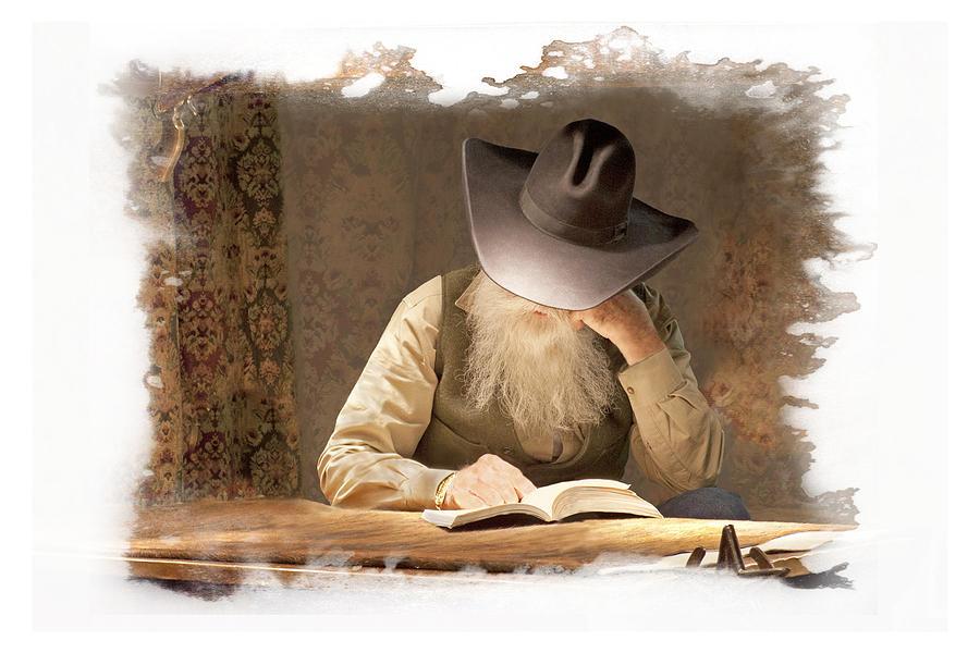 Cowboy Reading by Judy Deist