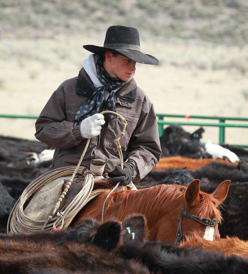 Hat Images Photograph - Cowboy Signature 9 by Diane Bohna