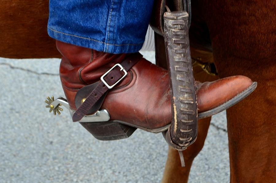 Boot Photograph - Cowboy Swagg by Kelly Kitchens