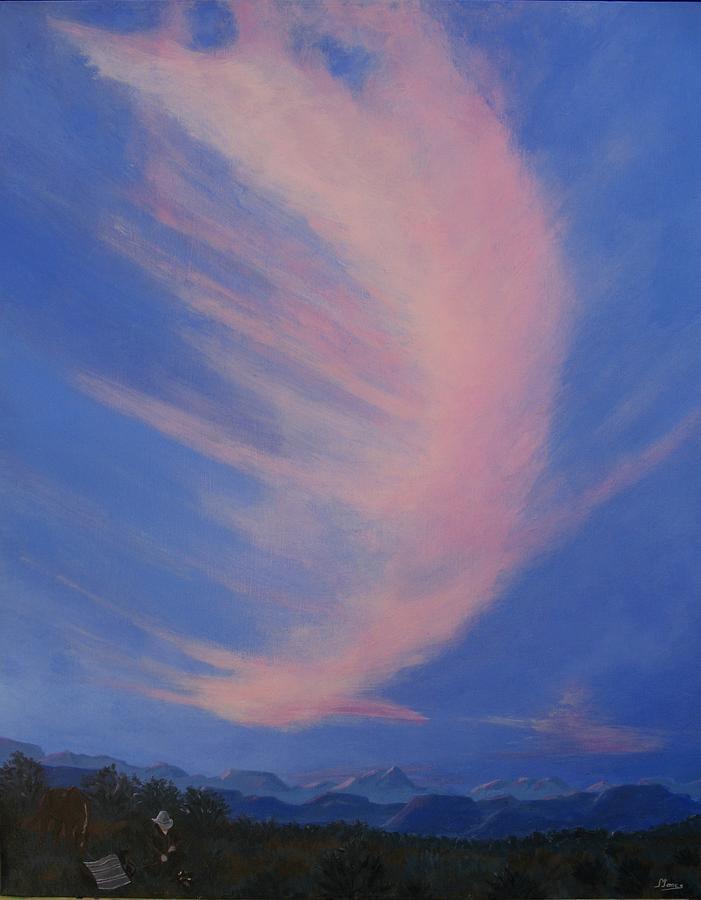 Western Painting - Cowboy Wakeup Call by Janis Mock-Jones