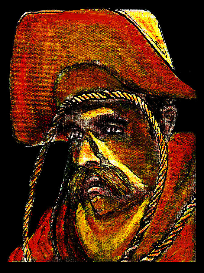 Cowboy Digital Art - Cowboy With Rope Jgibney The Museum Zazzle Gifts by The MUSEUM Artist Series jGibney