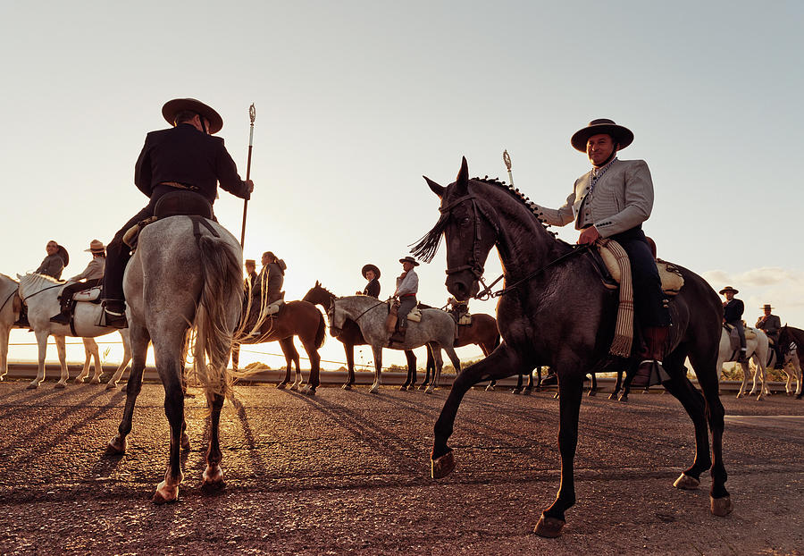 Cowboys On Horses Photograph by Ben Welsh / Design Pics