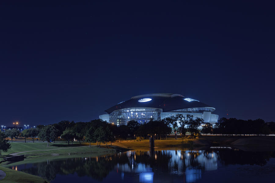 Cowboys Stadium Game Night 1 Photograph