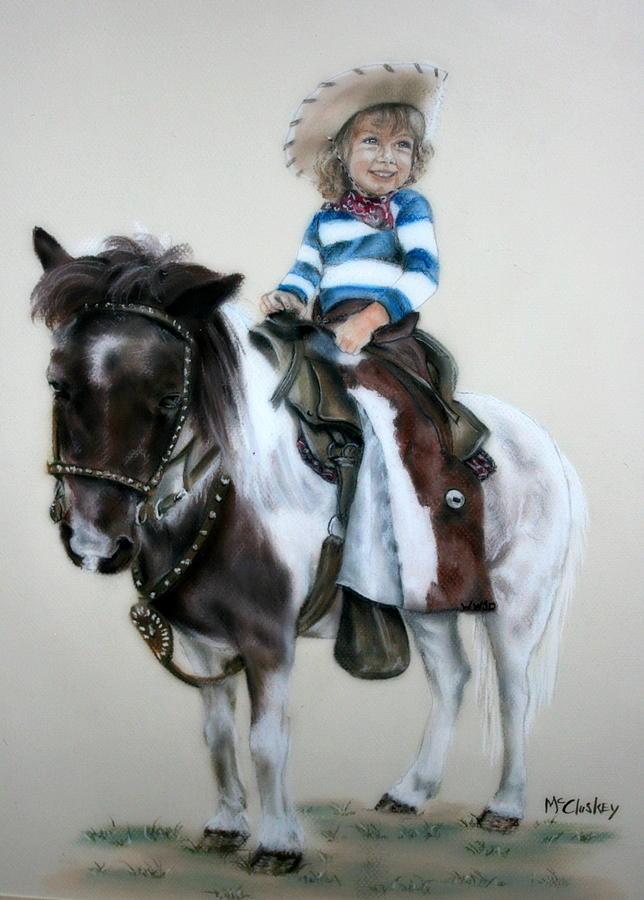 Western Pastel - Cowgirl Dee by Dee Mccluskey
