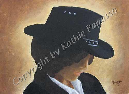 Western Painting - Cowgirl by Kathie Papasso