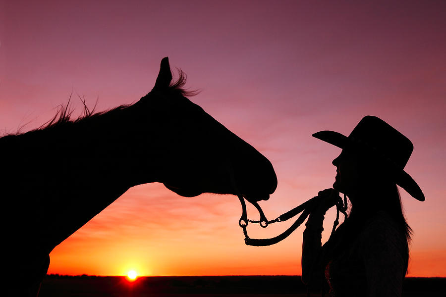 Cowgirl Sunset by Todd Klassy