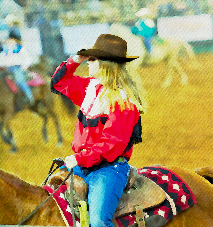 Cowgirl Photograph - Cowgirl Waiting by Alice Gipson