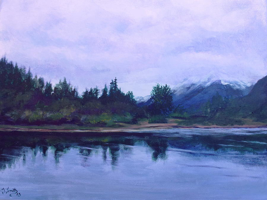 River Painting - Cowlitz Serentiy by Charles Smith