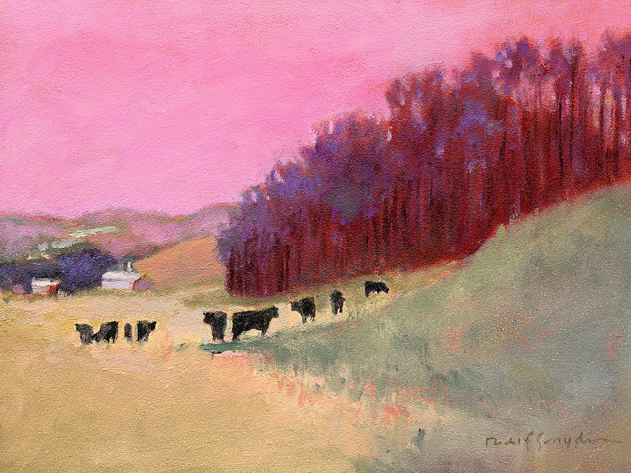 Cows Painting - Cows 3 by J Reifsnyder