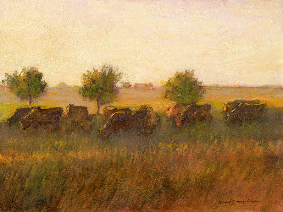 Cow Painting - Cows1 by J Reifsnyder