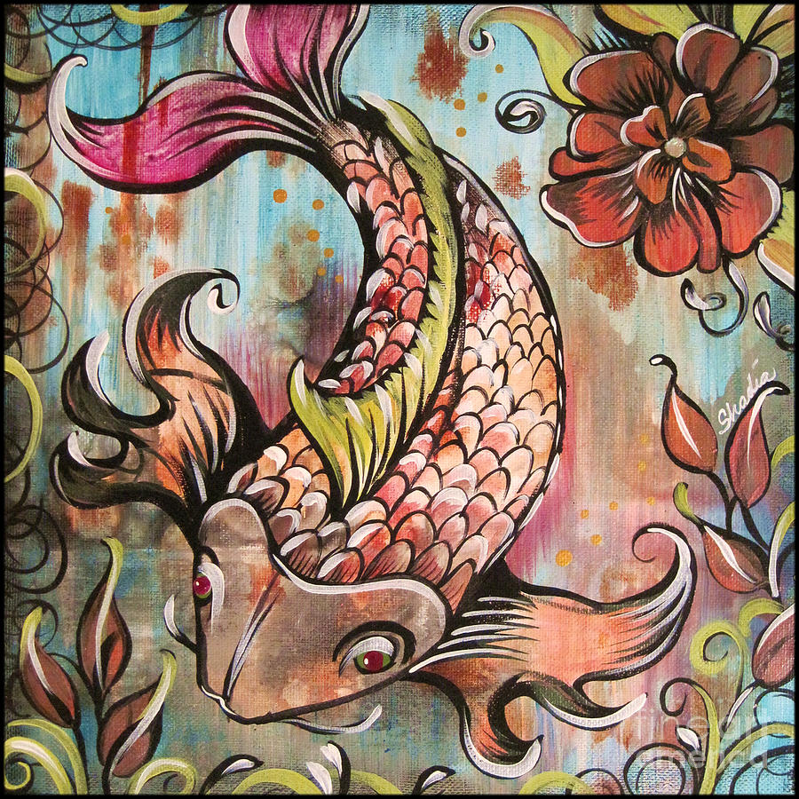Coy Koi Painting