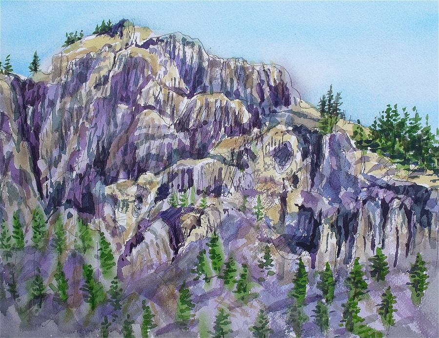 Landscape Painting - Coyote Mountain by Lynne Haines