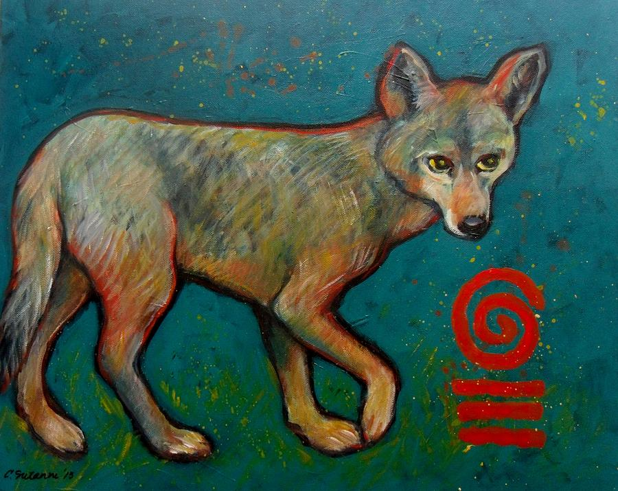 Coyote Of The Symbol Painting