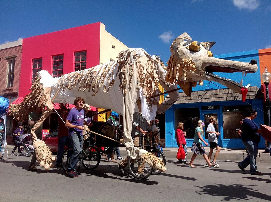 Puppets Photograph - Coyote On Parade by Feva  Fotos