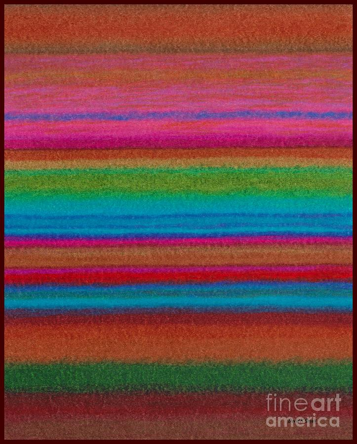 Colored Pencil Painting - Cp014 Stripes by David K Small