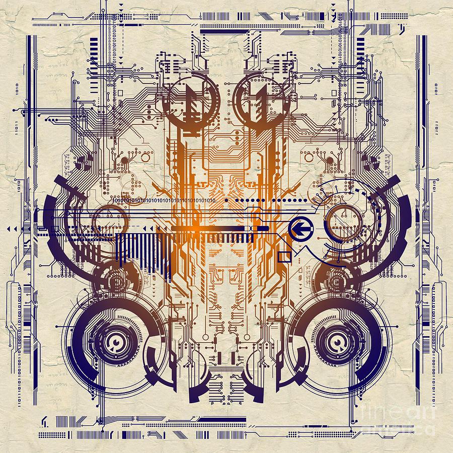 Electric Digital Art - Cpu IIi by Diuno Ashlee