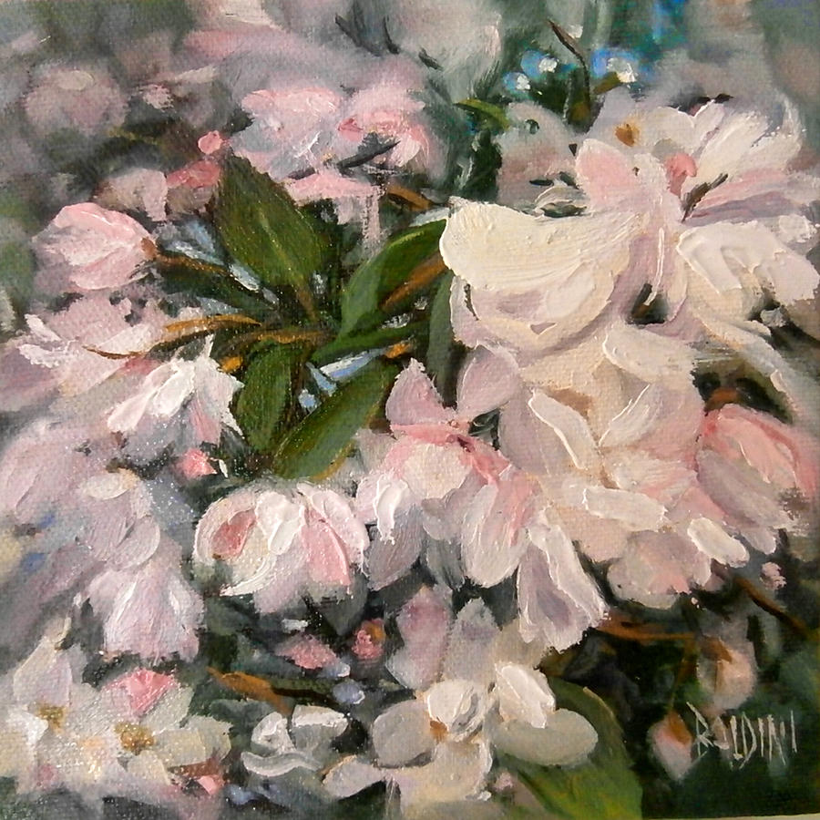 Flower Painting - Crab Apple Blossoms by J R Baldini