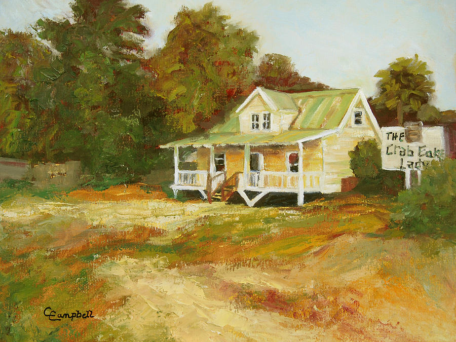 Landscape Painting - Crab Cake Ladys House by Cecelia Campbell