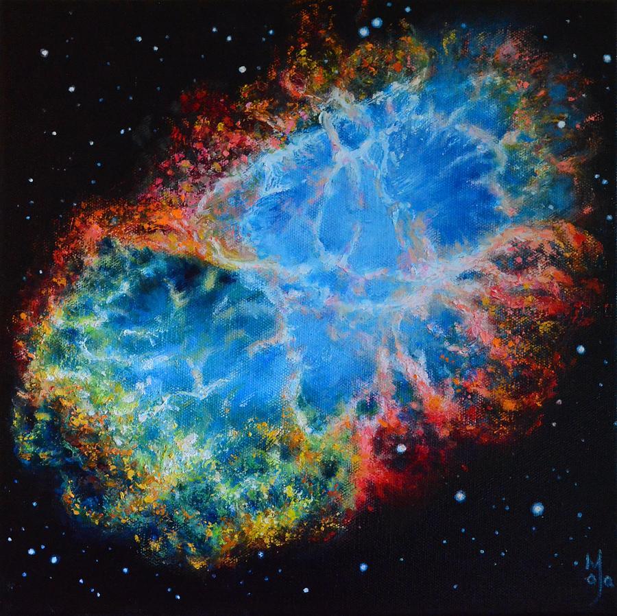 Crab Nebula Painting - Crab Nebula by Maja  Opacic