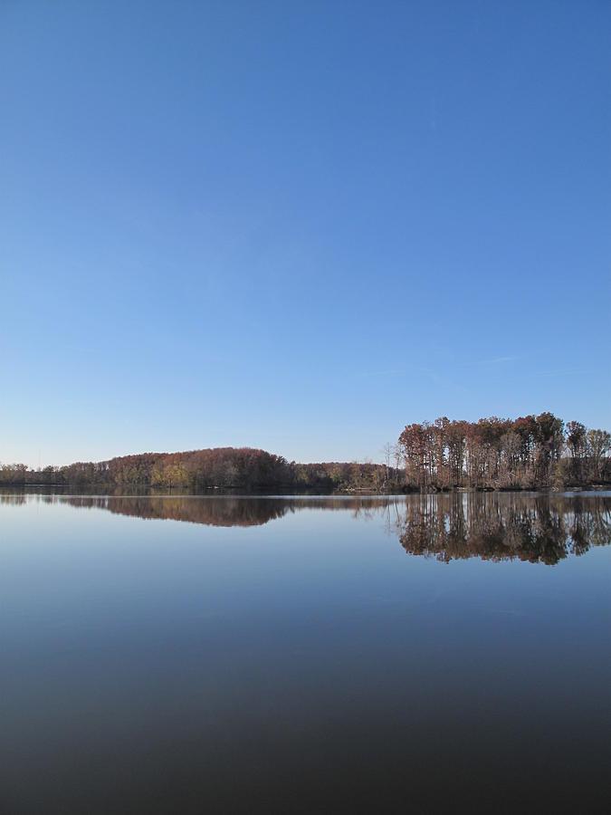 Southern Illinois Photograph - Crab Orchard Lakes Blue Mood by Frank Chipasula
