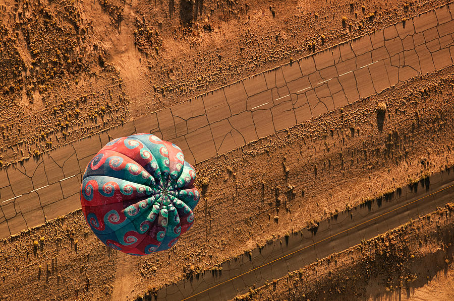 Balloons Photograph - Cracked Highway by Keith Berr