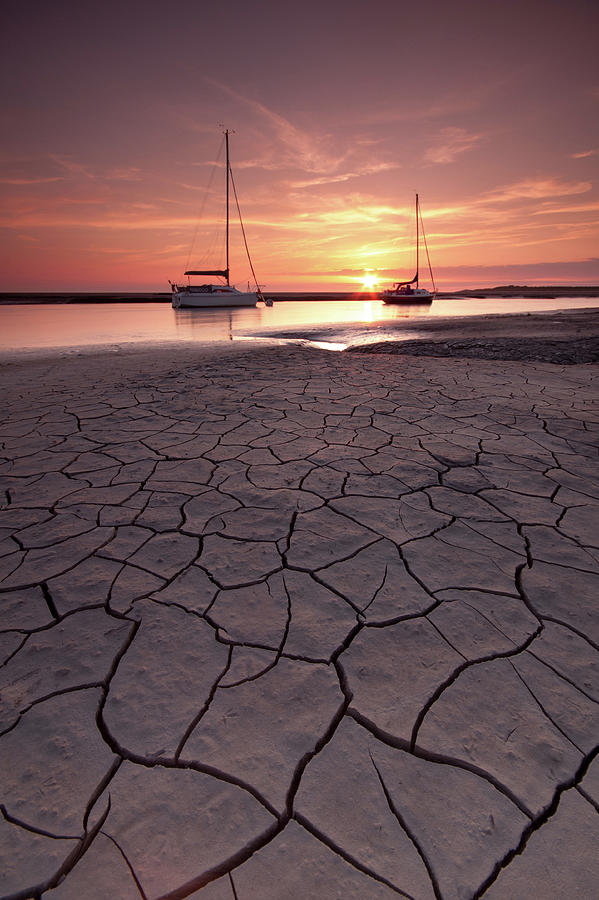 Cracked Mud Photograph by Paul Bullen