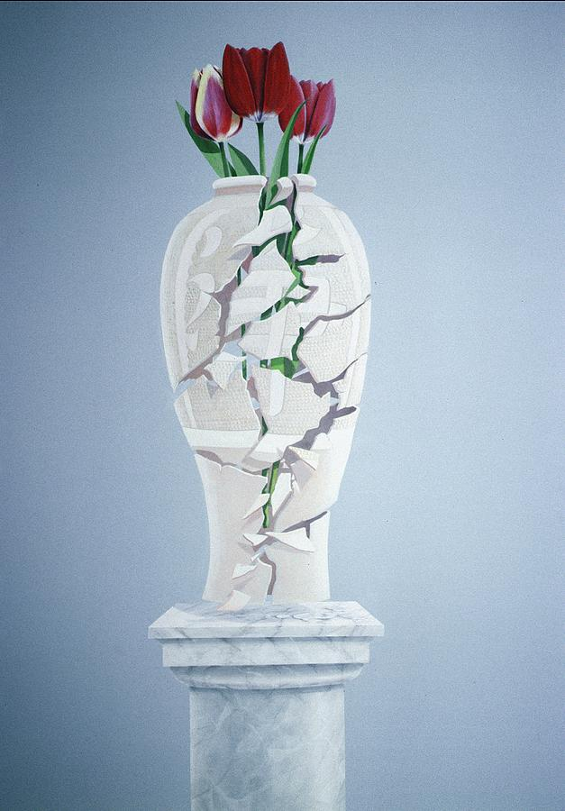 Tulip Painting - Cracked Urn by Lincoln Seligman